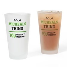 Funny Micheal Drinking Glass