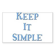 Keep It Simple 5 Rectangle Decal