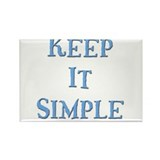 Keep It Simple 5 Rectangle Magnet (10 pack)