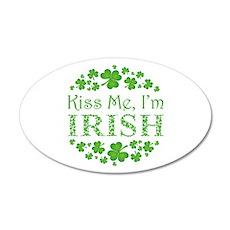 KISS ME, I'M IRISH 20x12 Oval Wall Decal