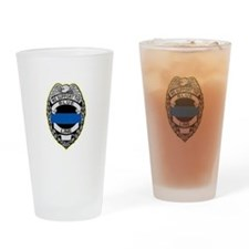 Cute Police line Drinking Glass