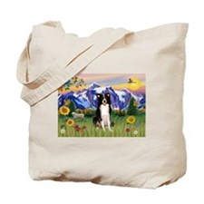 Mountain Country & Border Collie Tote Bag