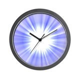 Blue/White NovaBurst Wall Clock