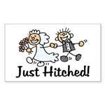 Just Hitched Rectangle Sticker