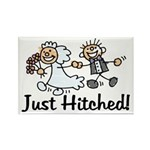 Just Hitched Rectangle Magnet