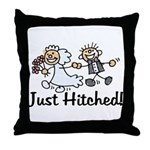 Just Hitched Throw Pillow