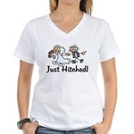 Just Hitched Women's V-Neck T-Shirt
