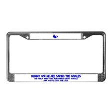 Saving the Whales License Plate Frame
