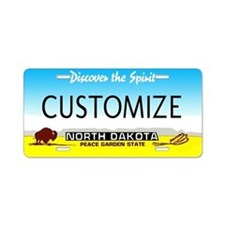 North Dakota Custom Aluminum License Plate