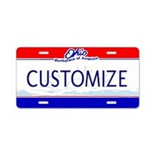 Ohio Custom Aluminum License Plate