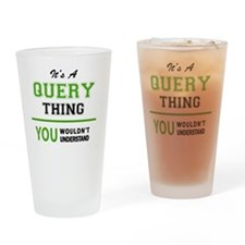 Cute Query Drinking Glass