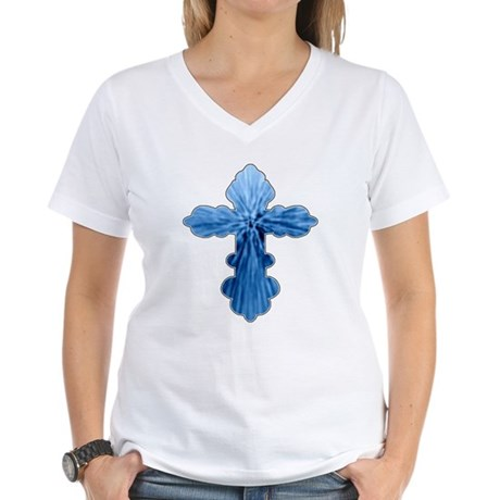 Blue Cross Women's V-Neck T-Shirt