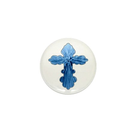 Blue Cross Mini Button (100 pack)