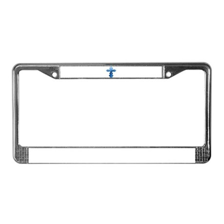 Blue Cross License Plate Frame