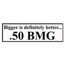 50 BMG Bumper Car Sticker