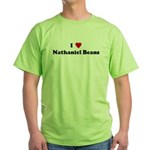 I Love Nathaniel Beans Green T-Shirt