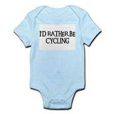 I'D RATHER BE CYCLING Infant Bodysuit