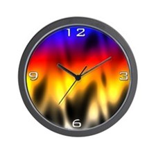Burning Rainbow Wall Clock