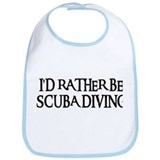 I'D RATHER BE SCUBA DIVING Bib