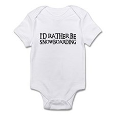 I'D RATHER BE SNOWBOARDING Infant Bodysuit