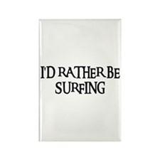 I'D RATHER BE SURFING Rectangle Magnet (100 pack)