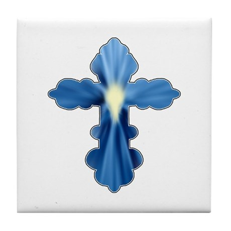 Holy Spirit Cross Tile Coaster