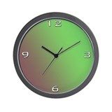 Green to Browns Wall Clock