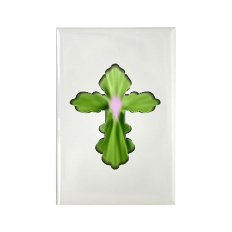 Holy Spirit Cross Rectangle Magnet (100 pack)