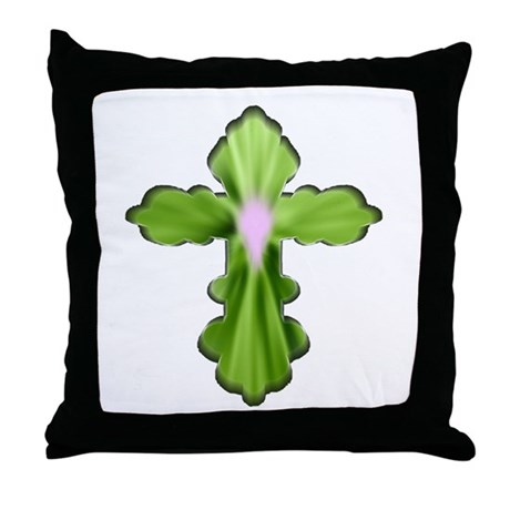 Holy Spirit Cross Throw Pillow