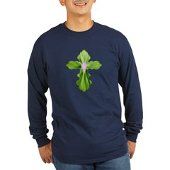 Holy Spirit Cross Long Sleeve Dark T-Shirt