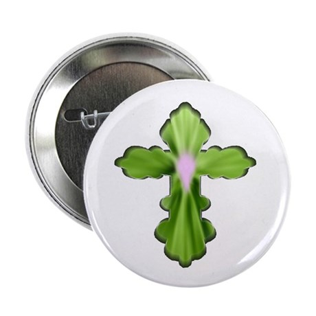 "Holy Spirit Cross 2.25"" Button (100 pack)"