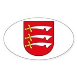 Essex County Coat of Arms Oval Decal
