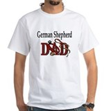 German Shepherd Dad White T-shirt
