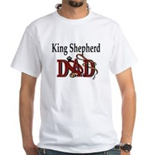 King Shepherd Dad White T-shirt