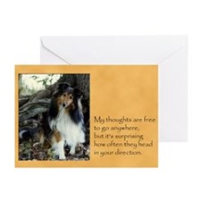 Can't Stop Sheltie Cards (Pk of 10)