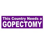 GOPectomy bumper sticker