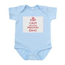 Keep calm we live in Preston Idaho Body Suit