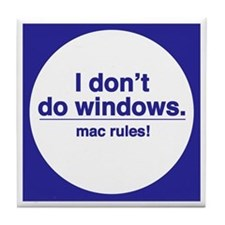 MAC RULES! - Tile Coaster