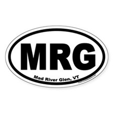 """Mad River Glen, Vermont """"MRG"""" Oval Bumper Decal"""