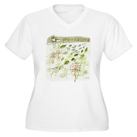 Pro-Nature Women's Plus Size V-Neck T-Shirt