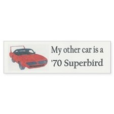 '70 Superbird Bumper Bumper Sticker