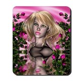 PINK ROSE GARDEN Mousepad