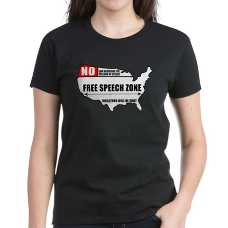 Free Speech Zone Women's Dark T-Shirt