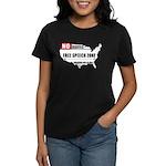 Free Speech Zone Women's Dark T-Shirt