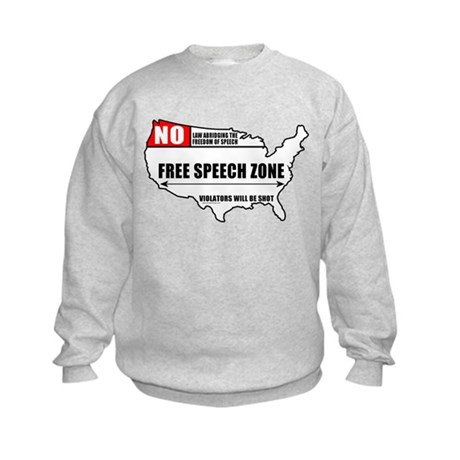 Free Speech Zone Kids Sweatshirt