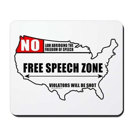 Free Speech Zone Mousepad