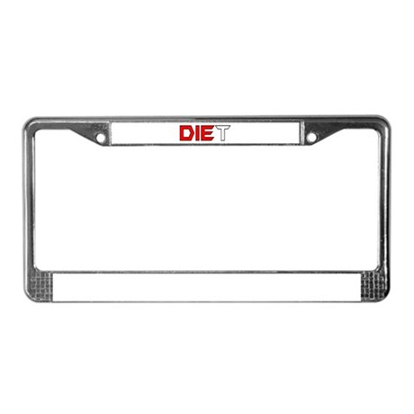 Diet License Plate Frame