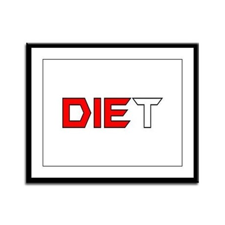 Diet Framed Panel Print