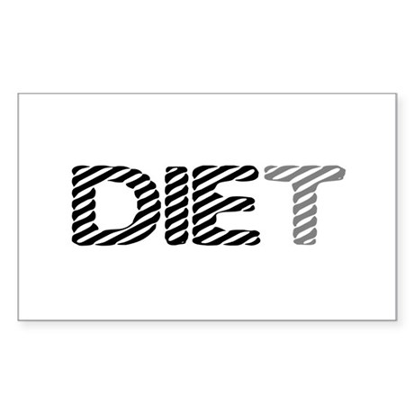 Diet Rectangle Sticker