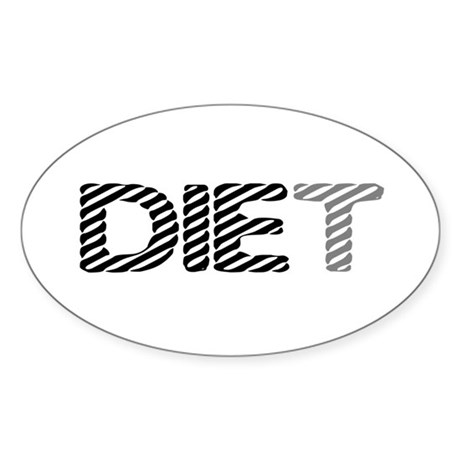 Diet Oval Sticker